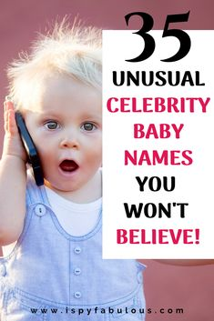 35 Weird Celebrity Baby Names You Won't Believe! – I Spy Fabulous These celebrity baby names are so unusual, you won't believe they're real (but they are! Get ready for the most weird celebrity baby names. Celebrity Baby Shower Dresses, Celebrity Baby Boy Names, Celebrity Baby Showers, Celebrity Baby Pictures, Baby Photos, Modern Baby Names, Cool Baby Names, Baby Girl Names, Italian Baby Names
