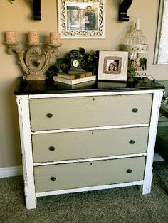Old Dresser Ith A Broken Drawer Great Redo Via Fab Rehab Creations Painted Upcycle Furniture Makeovers Pinterest