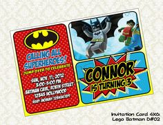 BATMAN Invitation  Batman Birthday Party  by KidsLabelKreations, $7.00