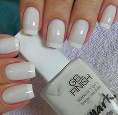 50 Awesome French Tip Nails to Bring Another Dimension to Your Manicure - Best Nail Art Shellac Pedicure, French Manicure Nails, French Tip Nails, Pedicure Ideas, Nagel Hacks, Cute Acrylic Nails, Glitter Nails, Nagel Gel, Nail Polish Colors