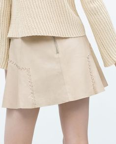 Image 5 of LEATHER SKIRT from Zara