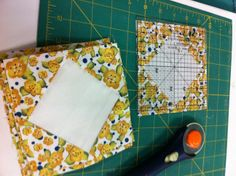 Trimming Dear Jane signature blocks
