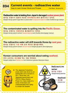 Easy to Learn Korean 894 - Current Events - Radioactive Water. Chad Meyer and Moon-Jung Kim EasytoLearnKorean.com
