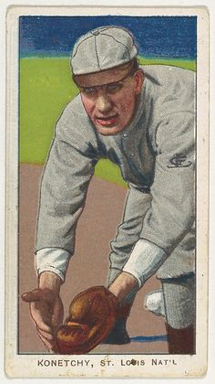 Konetchy, St. Louis, National League, from the White Border series (T206) for the American Tobacco Company
