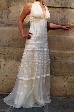 Robe de mariée Célèste en organza de soie taille 38/40 à Paris