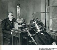 Apparatus for Measuring Metabolism, c. 1935.