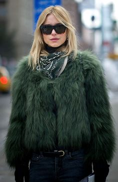 @Kirsten Wehrenberg-Klee Wehrenberg-Klee Wehrenberg-Klee Wehrenberg-Klee Bierlein you need to rock this look with your green fur coat.