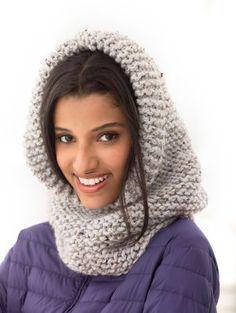 Cagoule en tricot épais Margate Wool-Ease Thick & Quick de Lion Brand
