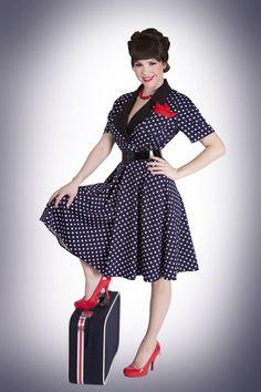 Chic vintage ann es 50 39 s style audrey hepburn rockabilly swing robe de f te de pique nique - Style guinguette femme ...
