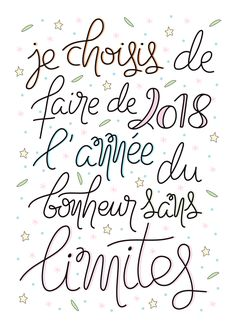 Mantra 2018 format a Positive Attitude, Positive Vibes, Mantra, Positiv Quotes, French Quotes, Magic Words, Messages, Nouvel An, Some Quotes