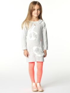 Knitted DressLong SleeveRound NeckTectured Jacquard