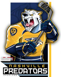 Our good friend #EPoole88 (Eric Poole) is getting ready for the upcoming season with cartoon renderings of each team. This is the Nashville Predators. #TSN #BarDown