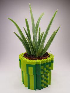 8-Bit LEGO Warp Pipe Planter by H.Y. Leung