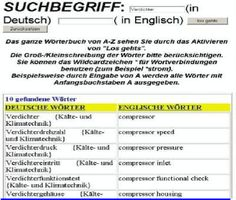 Leseprobe Fachuebersetzungen: Begriffe fuer Kaeltetechnik-Mechatroniker + Klimatechnik (Demo Woerterbuch)