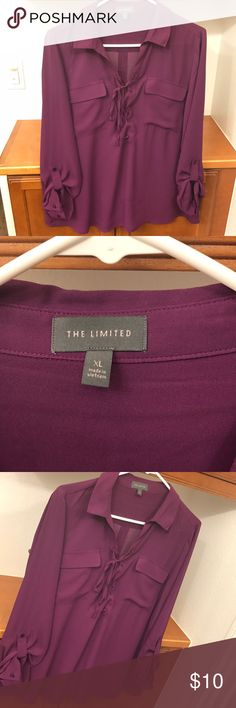 Wear bold! Beautiful purple blouse! Like new! Add some color to your wardrobe! Perfect to wear to work or a casual date with your friends! 100% polyester, size XL The Limited Tops Blouses