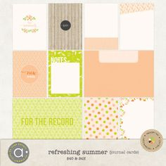 Refreshing summer - journal cards :: Journal Cards :: PROJECT 365 | LIFE :: Memory Scraps
