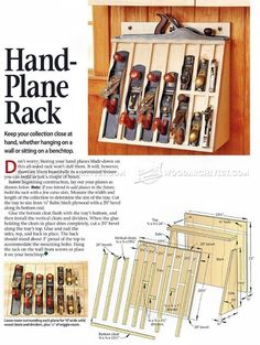 #34 Hand Plane Rack Plans - Workshop Solutions: