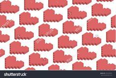 A pattern of hearts. Heart of pixels.