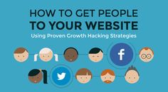 """This infogaphic called """"Growth hacking strategies to get people to your website"""" look at some of the examples of large tech and social media companies that have used growth hacking to grow their business. Inbound Marketing, Content Marketing, Online Marketing, Digital Marketing, Social Media Company, Social Media Tips, Social Networks, Technology Articles, Growth Hacking"""