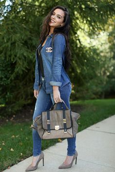 Denim & Taupe | the Fashion Bybel