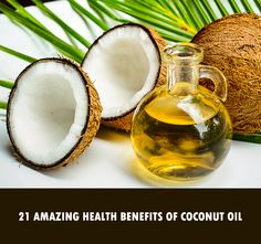 Coconut oil has proved to be a wonder ingredient for overcoming many health problems. Many severe health problems can be easily cured by regular use of coconut oil. Coconut oil is known to be good for skin, hair, immune system, eyes, kidneys, heart and almost all the parts of the human body. Read the 21 amazing health benefits of coconut oil