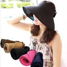 1f6ccf3e Aliexpress.com : Buy Hot selling summer Bow folding visor anti uv sunbonnet sun  hat straw hat from Reliable hat clip art free suppliers on Taobao Agent for  ...