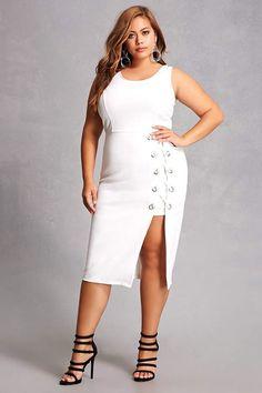 Plus Size Lace-up Dress. aff