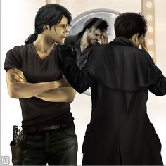 Harry & Thomas from Jim Butcher's Dresden Files!