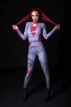 NEW Fossilized Zombie Costume Halloween Costume Full by BADINKA