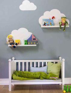 Wolken met boekenplank