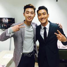 Park Seo Joon's IG with Siwon
