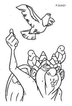 The Hunchback of Notre Dame coloring book pages - Gargoyle 2
