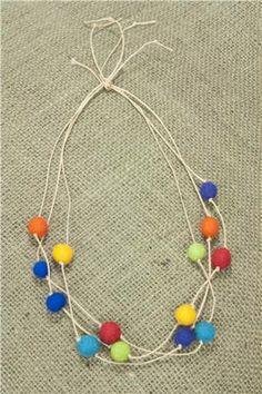 Dimensions® Feltworks® Felt Ball Multi Strand Necklace