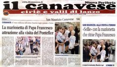 Rassegna stampa. MARIONETTE MAURIZIO LUPI - rassegna stampa sulla visita di Papa Francesco a Torino. presentazione della marionetta di Papa Francesco durante la sua visita nella città.