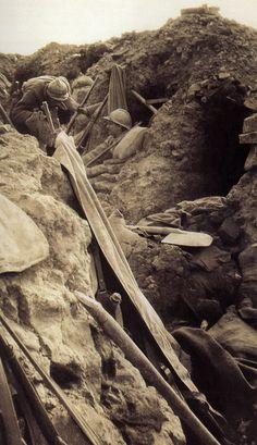 WW1, 1916, Verdun, French trench.