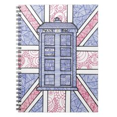 Perfect for back to school! A Doctor Who TARDIS inspired notebook featuring an…
