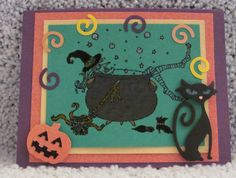 I just listed Cat and Cauldron Happy Halloween A2 handmade greeting card on The CraftStar @TheCraftStar #uniquegifts