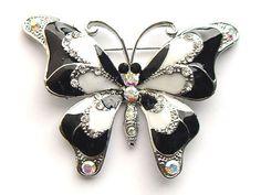 Black White Enamel Paint Crystal Rhinestone Butterfly Fashion Jewelry Pin Brooch Alilang,http://www.amazon.com/dp/B002S1J4N8/ref=cm_sw_r_pi_dp_fUl8rb0WVJJMAXCD