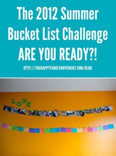 The Summer Bucket List Challenge @ Happy Family Movement