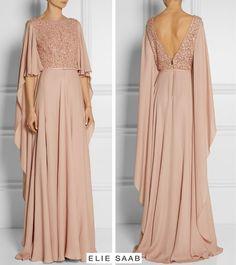 dress Brokat elie saab - Ideas dress long evening gowns elie saab for 2019 Hijab Gown, Hijab Evening Dress, Hijab Dress Party, Long Evening Gowns, Maternity Evening Dresses, Elegant Prom Dresses, Dresses Short, Trendy Dresses, Modest Dresses