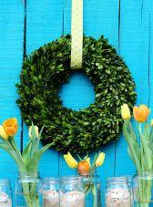 16 Inch Preserved Boxwood Round Wreath