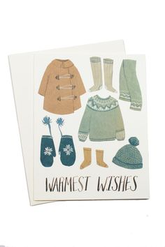 Warm Wishes Card. Coziest card ever.