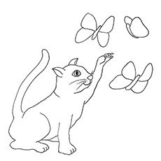 domestic cat coloring pages - photo#45