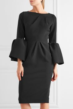 Black crepe Two-way zip fastening through back 80% polyester, 14% viscose, 6% elastane Dry clean Made in Italy