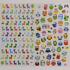 1pc DIY Cartoon owl transparent Sticker Lovely Giraffe Calendar Album Deco Sticker Writing Memo Pad for Children Gift Stationery