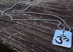 Om Necklace - Silver Om Necklace - Ball Chain Necklace - Spiritual Jewelry - Meditation Necklace on Etsy, $16.00