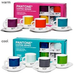 Coffee and colors for every mood. Pantone Set PD