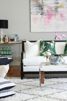 Transform your living room with a beautiful sofa + SHOP THE LOOK! via @gwhkristy