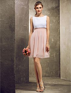 A-line Scoop Short/Mini Chiffon Bridesmaid Dress (808899) – USD $ 79.19    Is this the one you picked?