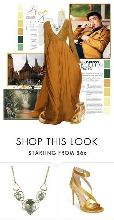 """""""One night in Bangkok and the world's your oyster"""" by katherineelisa ❤ liked on Polyvore featuring Dennis Basso, Alexis Bittar and Imagine by Vince Camuto"""